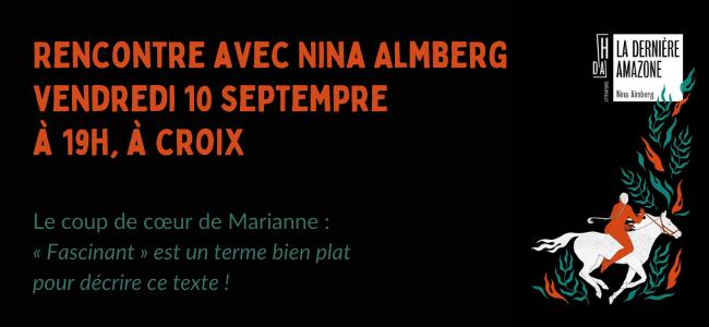 Rencontre avec Nina Almberg - La dernière Amazone