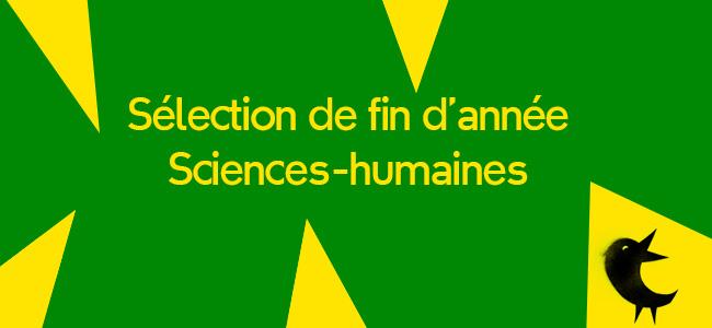 Notre sélection Sciences-humaines 2020