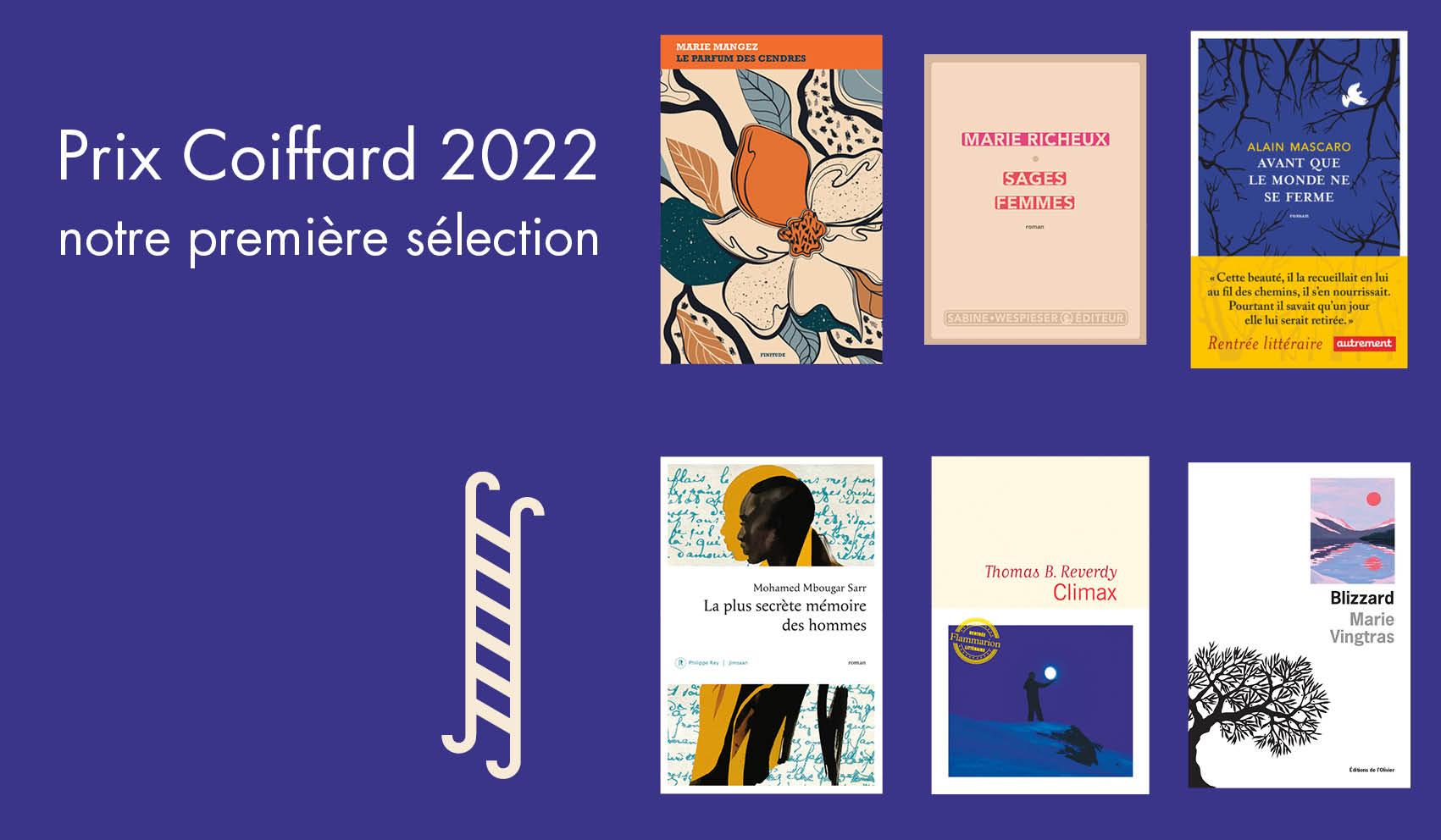 Sélection du Prix du roman Coiffard 2022