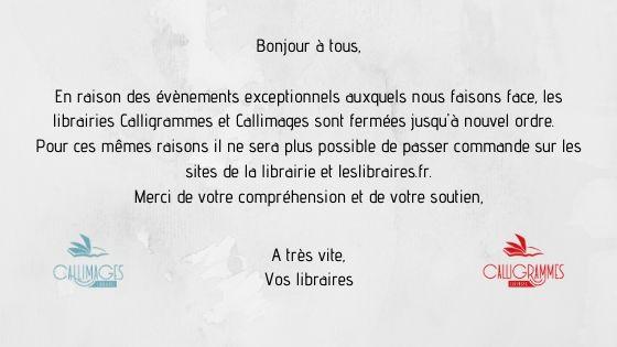 Fermeture des librairies Calligrammes - Callimages