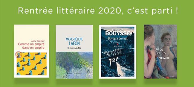 Rentrée littéraire 2020 : notre sélection