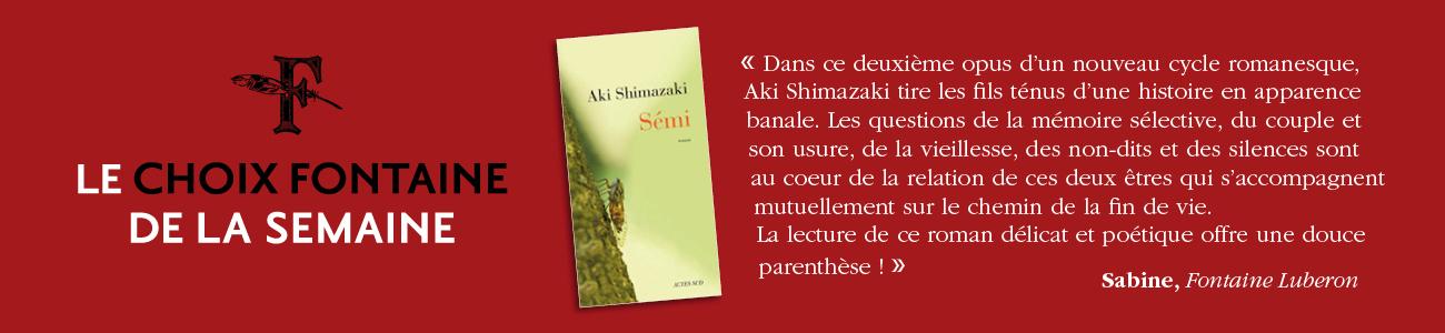 CHOIX FONTAINE DE LA SEMAINE 210602