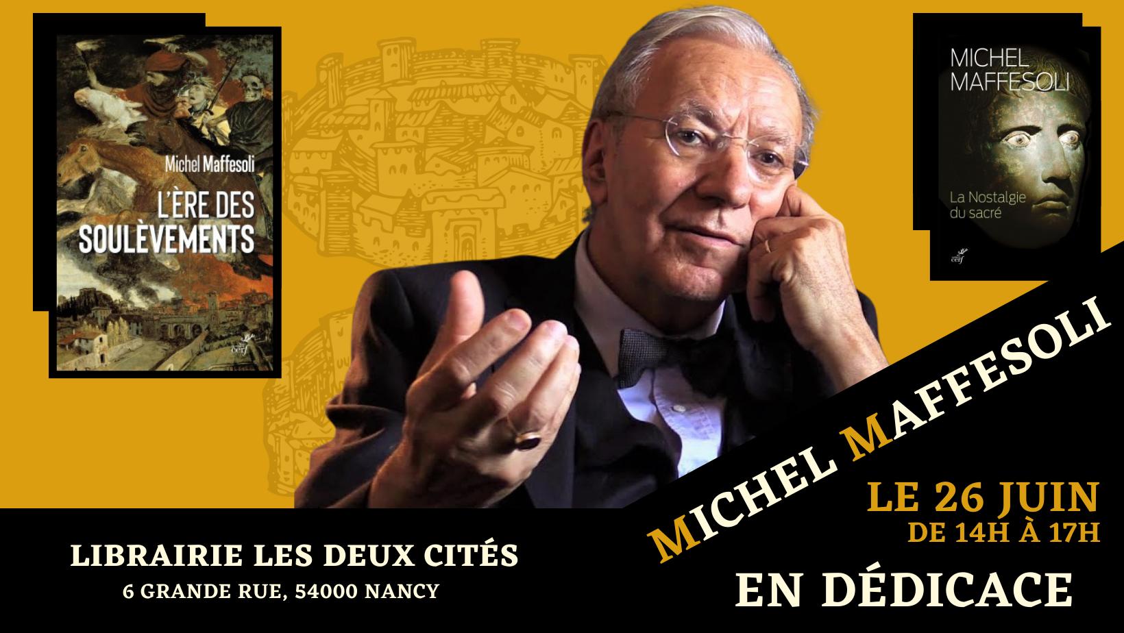 Michel Maffesoli en dédicace le 26 juin 2021