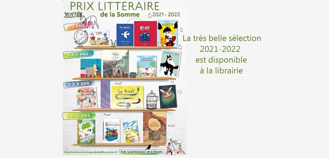 Prix littéraire des écoles de la Somme 2021-2022
