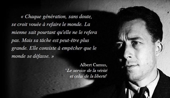 Un auteur à la une : Albert Camus