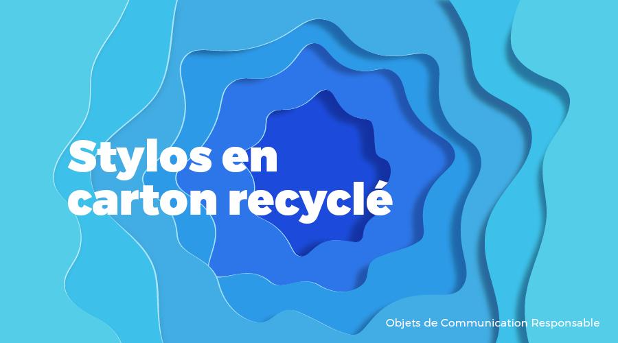 Univers - Stylos en carton recyclé - Goodies responsables - Cadoetik