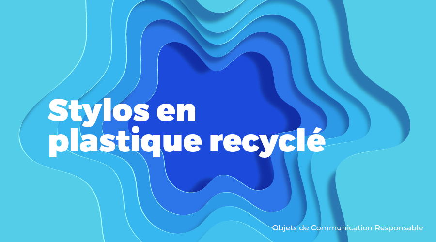Univers - Stylos en plastique recyclé - Goodies responsables - Cadoetik