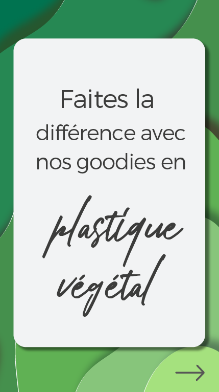 push selection goodies plastique vegetal