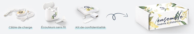 goodies télétravail - box personnalisée