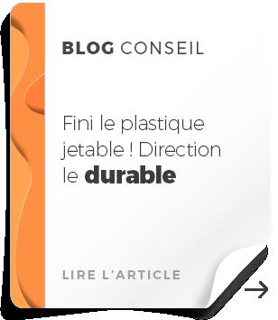 push blog plastique jetable