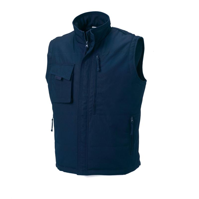Bodywarmer personnalisable Russell special 60° bleu navy - cadeau d'entreprise