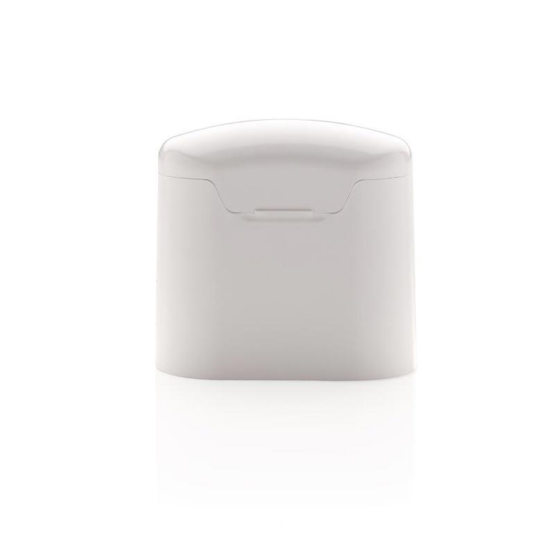 écouteurs publicitaires sans fil avec boîtier blanc Liberty