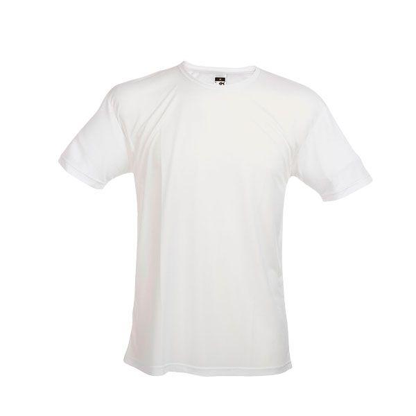 T-shirt technique personnalisé pour homme Nicosia blanc - textile publicitaire