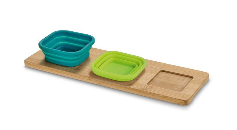 Accessoire de cuisine publicitaire écologique - Plateau avec 3 bols Silibou