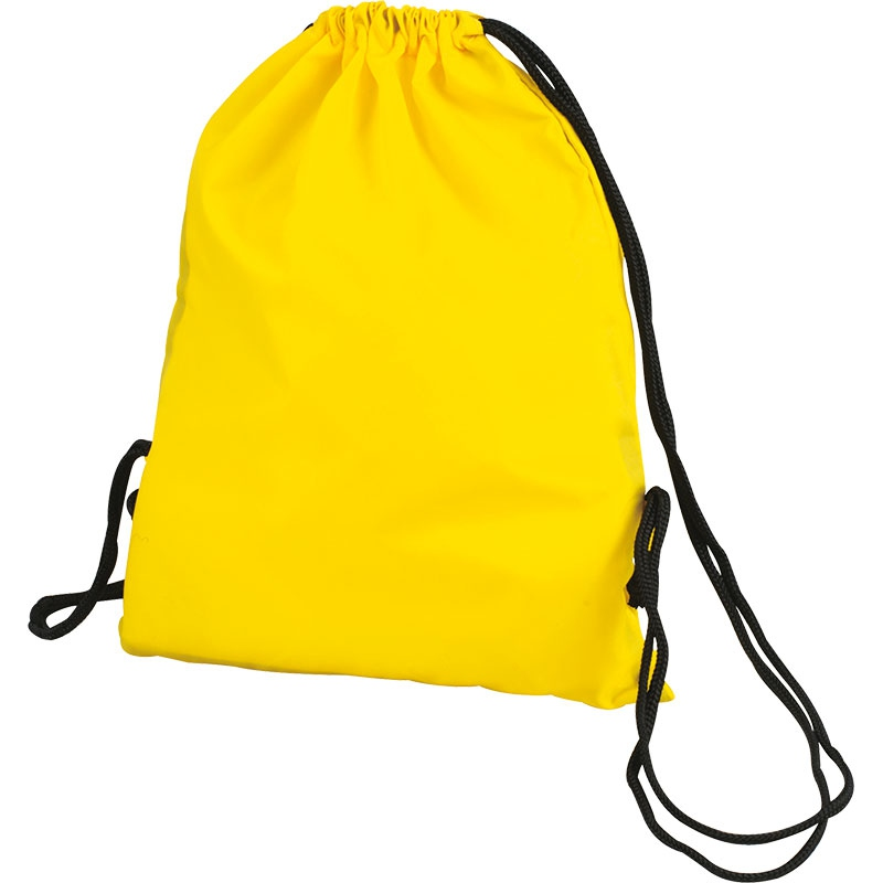 Sac à dos cordon personnalisable Bloofy  - Gym bag publicitaire - jaune