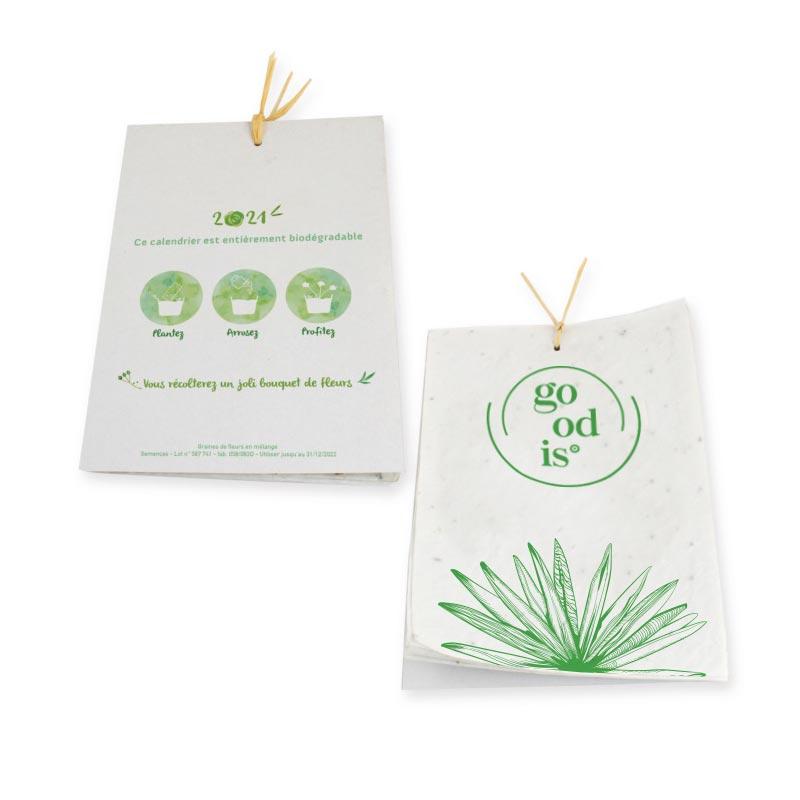 Goodies écolo - Calendrier à semer en format A6