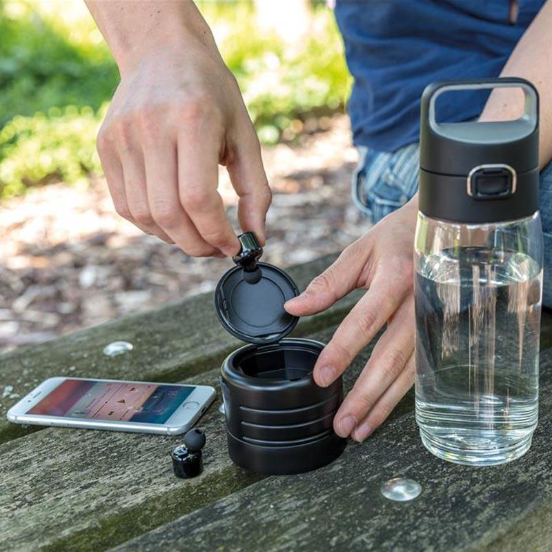 Bouteille à personnaliser Hydrate avec écouteurs sans fil