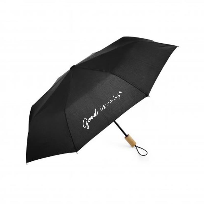 parapluie publicitaire pliable ecorain noir