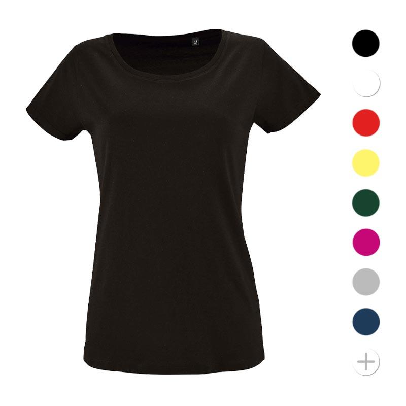 tee-shirt publicitaire femme en coton bio Milo - coloris
