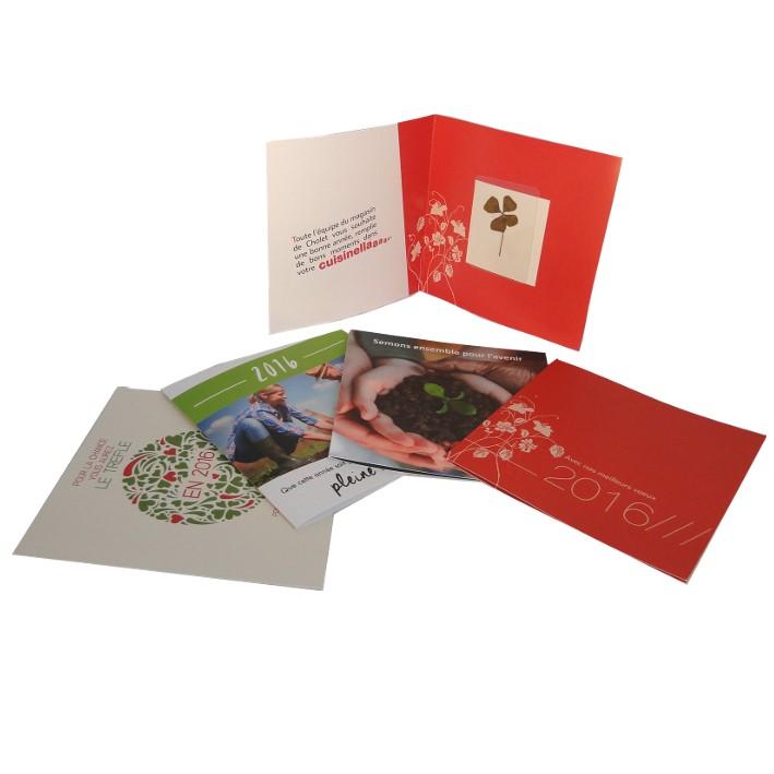 Carte Trèfle à 4 feuilles séché - cadeau publicitaire végétal