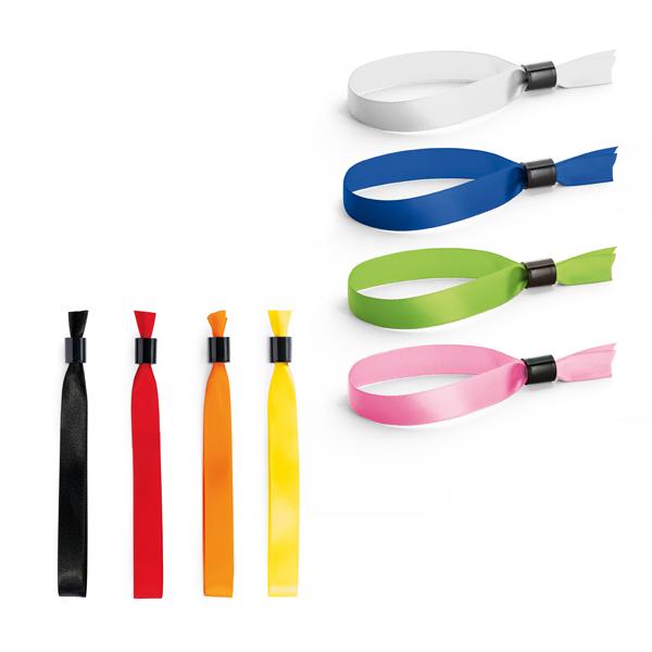 Bracelet publicitaire - Bracelet personnalisable inviolable Satin Vip