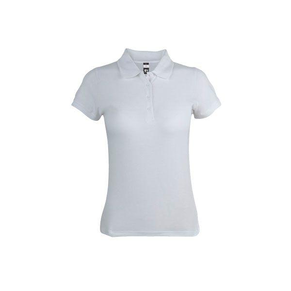 Polo personnalisable pour femme Eve blanc