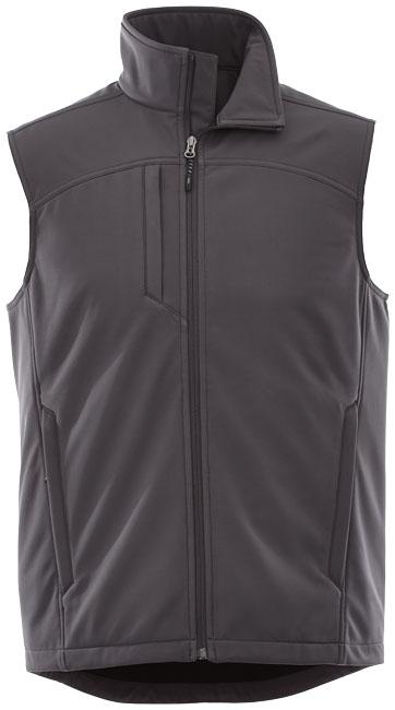 Textile publicitaire - Bodywarmer publicitaire Softshell Stinson - gris