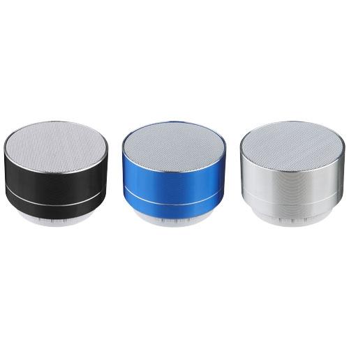 Enceinte nomade personnalisée publicitaire métal Bluetooth® Blues