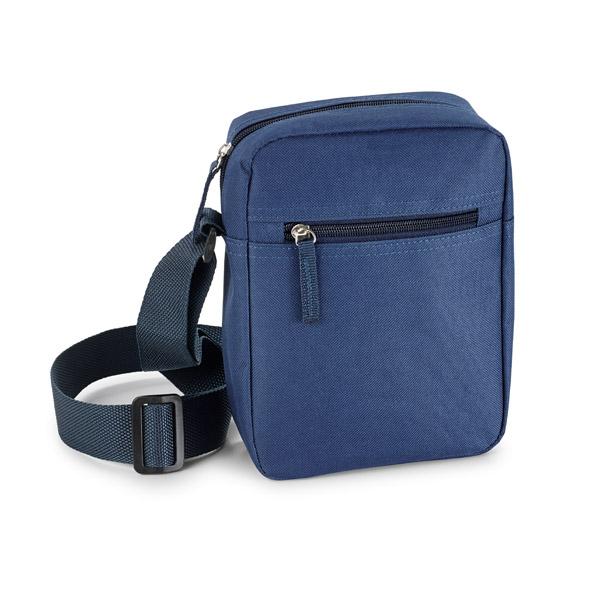 Sacoche publicitaire à bandoulière Slam bleue - sacoche promotionnelle