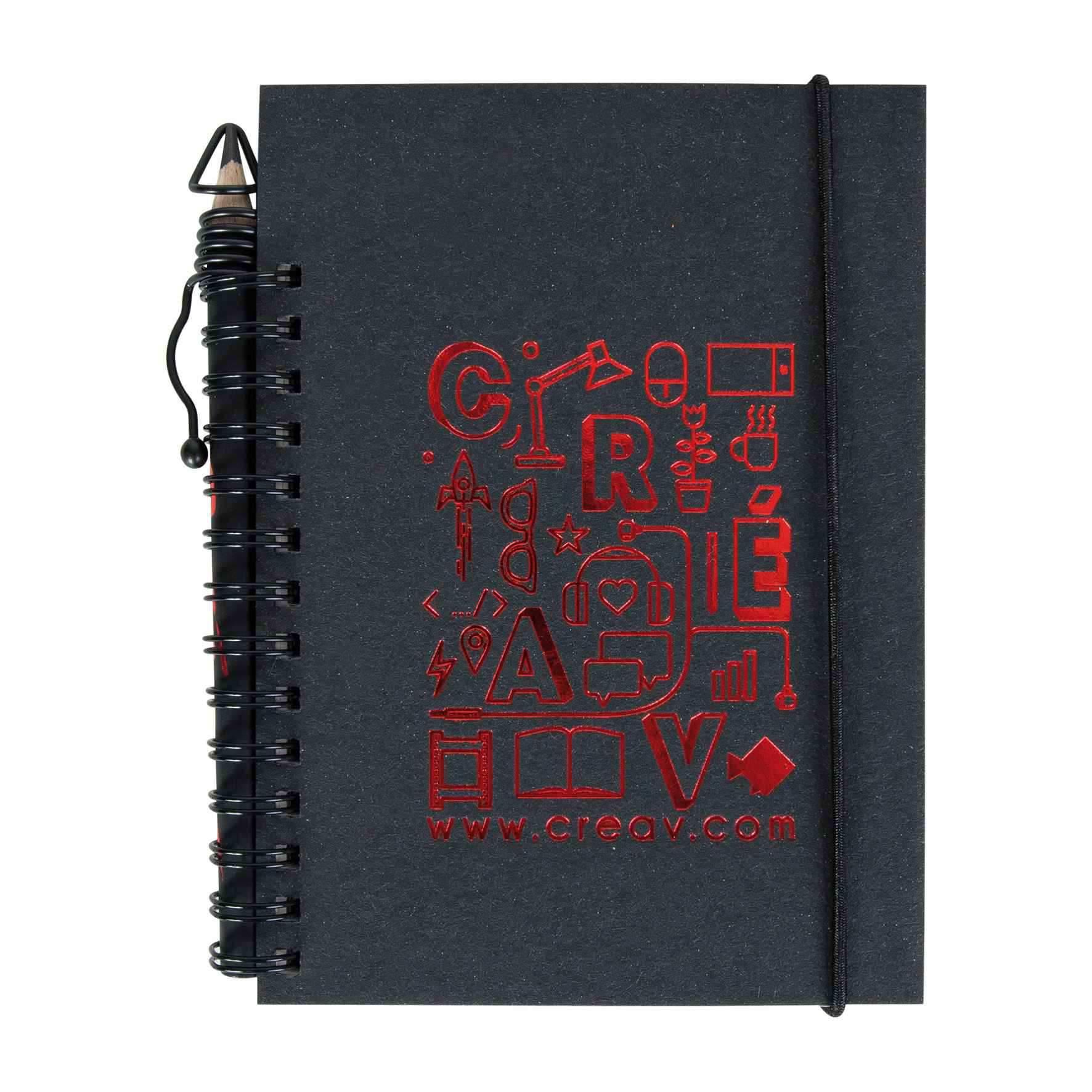 cadeau client - carnet écolo personnalisé et crayon papier clip'one A6