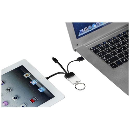 cadeau publicitaire - câble de charge personnalisé 3 en 1 Dazzle