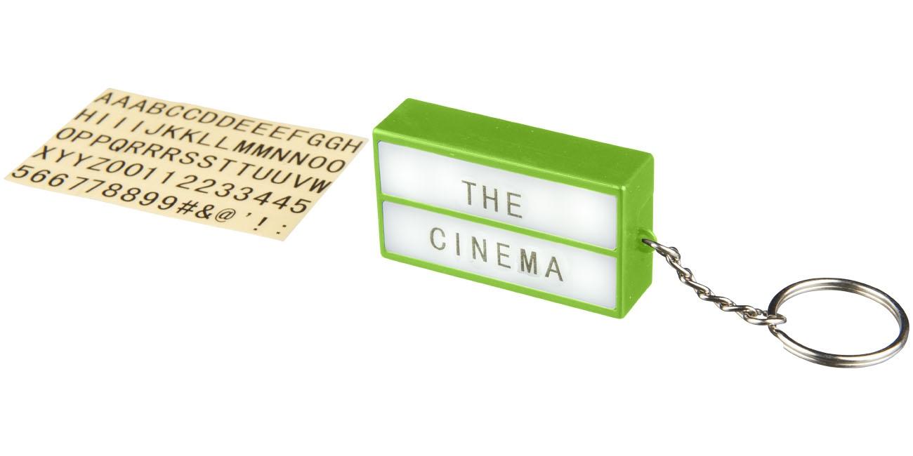 Porte-clés publicitaire lampe Cinéma rouge