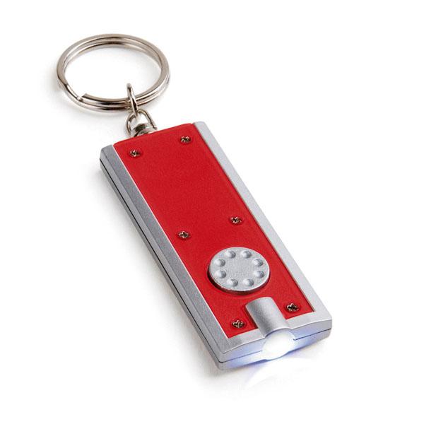 Porte-clés promotionnel Lighty rouge - goodies
