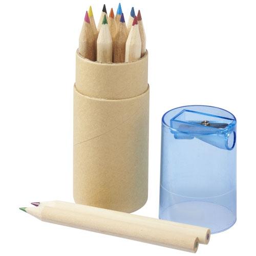 Crayons de couleur publicitaires - Set de 12 crayons de couleur Joan