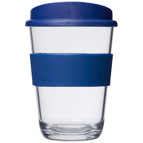 Mug publicitaire avec couvercle - Gobelet publicitaire Americano® Cortado 300 ml avec bandeau antidérapant