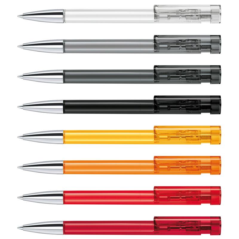 Stylo bille publicitaire Liberty Clear pointe métallisée - stylo bille personnalisable