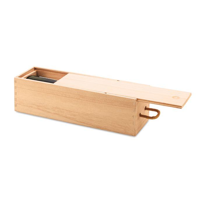 Boite à vin personnalisable en bois Vinbox - cadeau d'entreprise sommelier