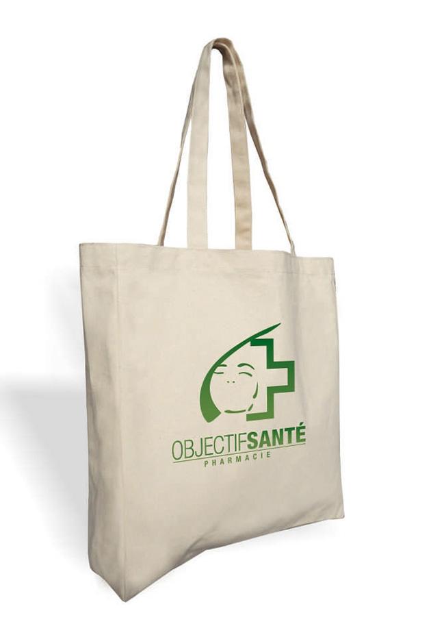 Sac shopping publicitaire en coton écru Surat - cadeau  publicitaire durable