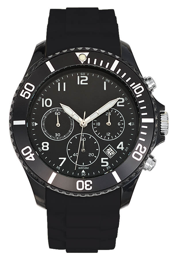 Montre publicitaire sport Chrono Freeze noir