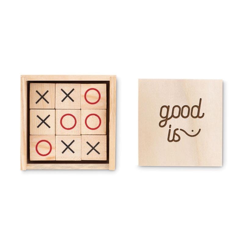 jeu en bois publicitaire morpion Tic Toe - goodies entreprise