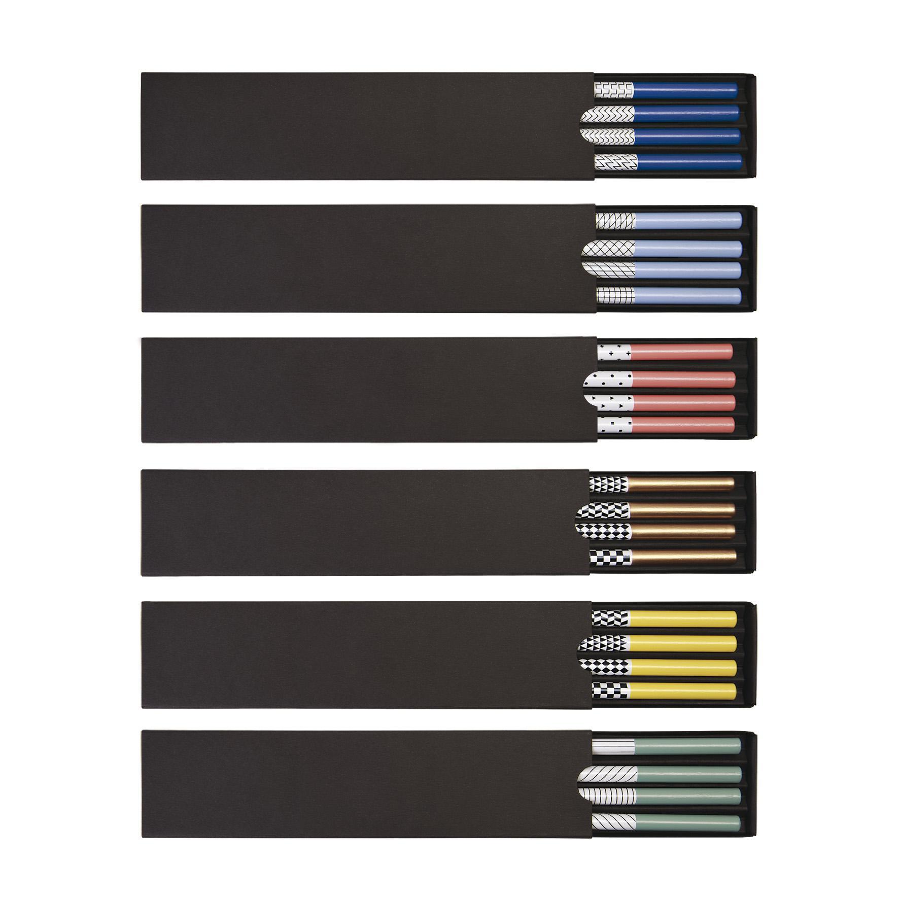 cadeau d'entreprise - coffret 4 crayons à papier publicitaires Graph