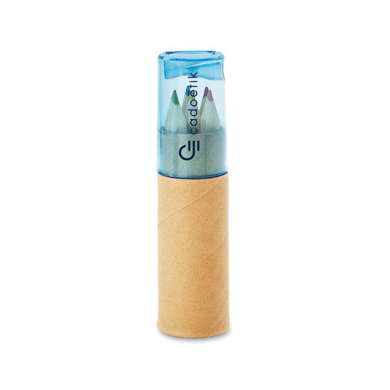 Cadeaux publicitaires pour enfants - Tube de 6 crayons de couleur Petit Lambut