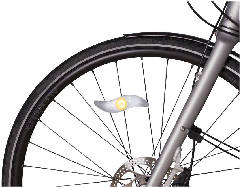 Lampe pour vélo publicitaire à LED Falcon - objet publicitaire vélo