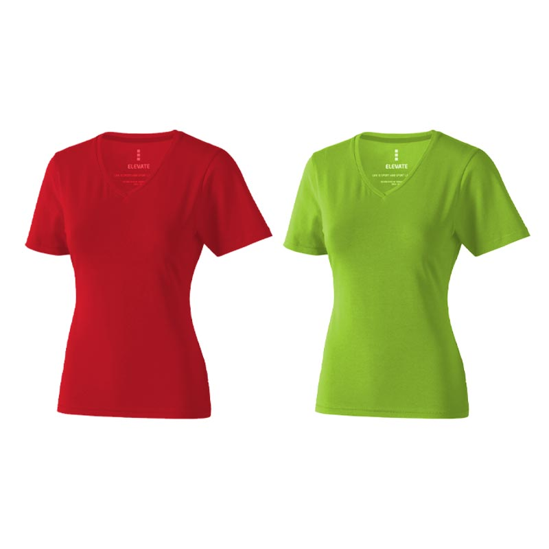 T-shirt bio manches personnalisé courtes pour femmes Kawartha