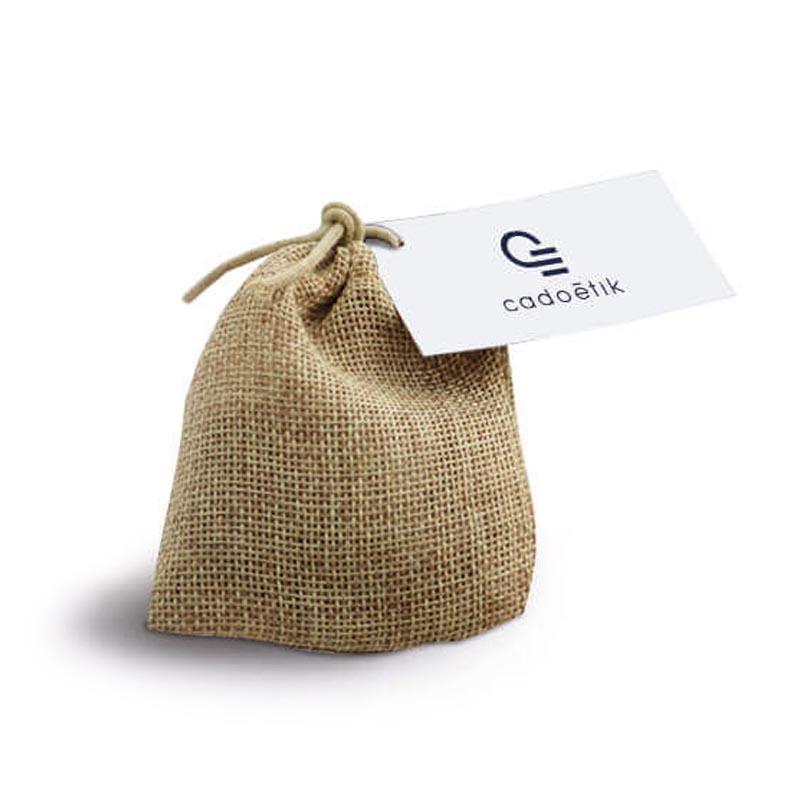 Sachet d'épices en toile de jute - Goodies entreprise