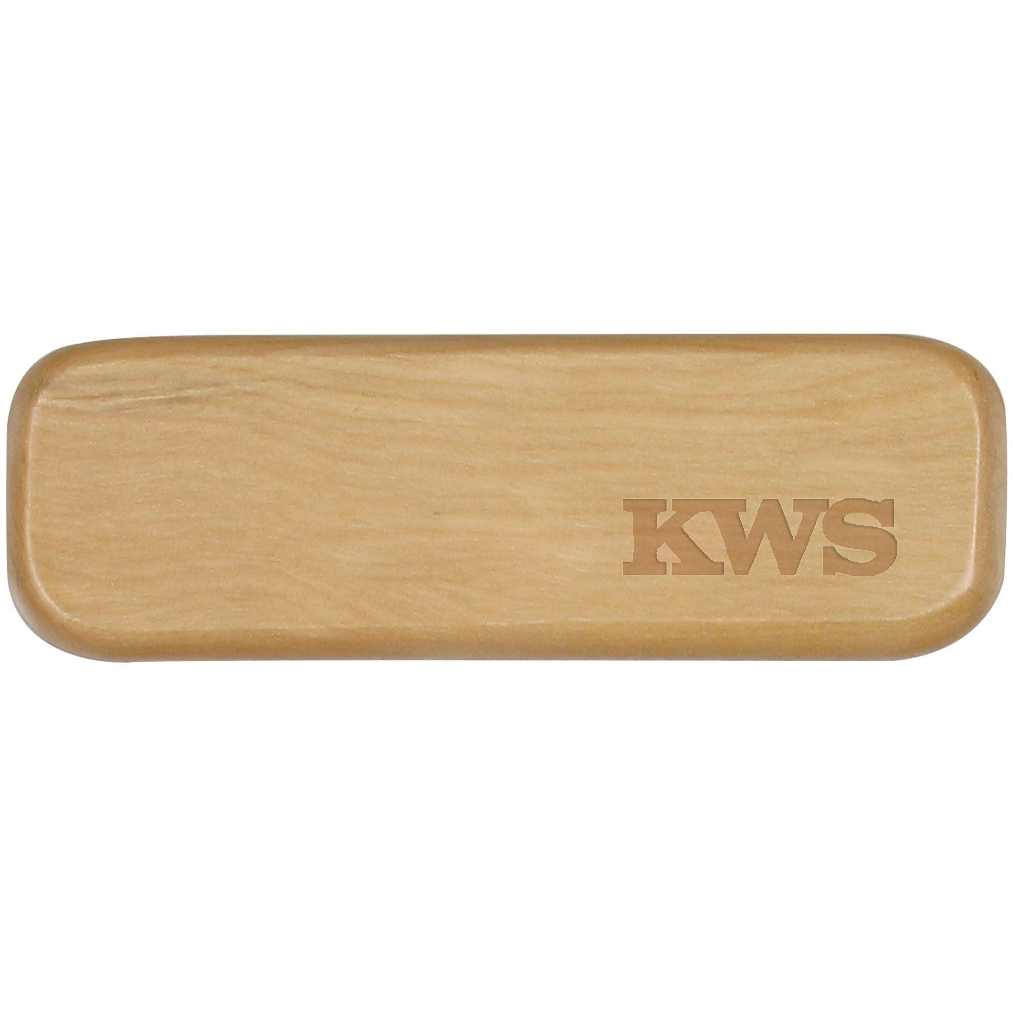 Cadeau d'entreprise - Parure bois stylo Bille publicitaire et Roller Wood - bois foncé