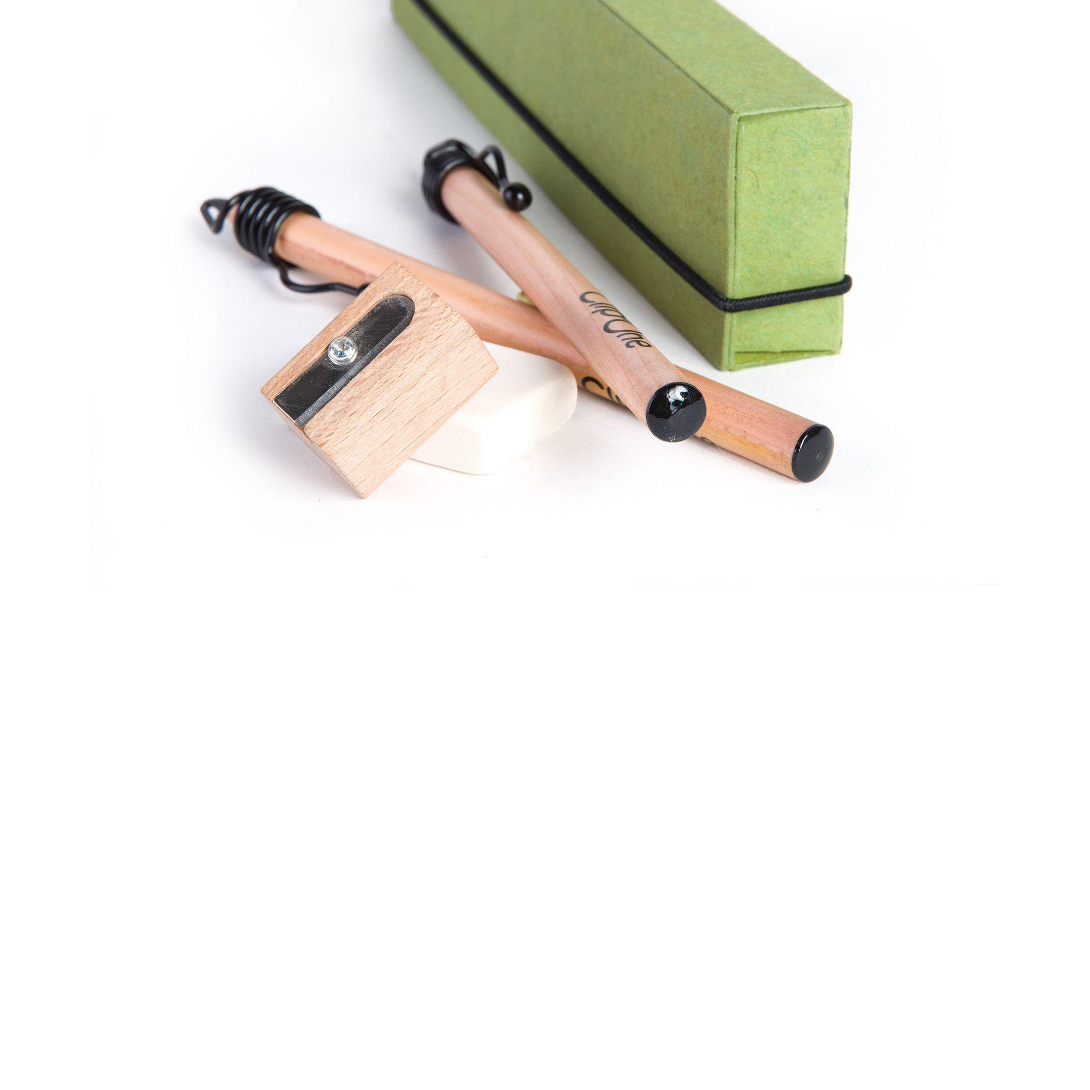 Crayons à papier publicitaires - Etui cadeau Clip'One Eco
