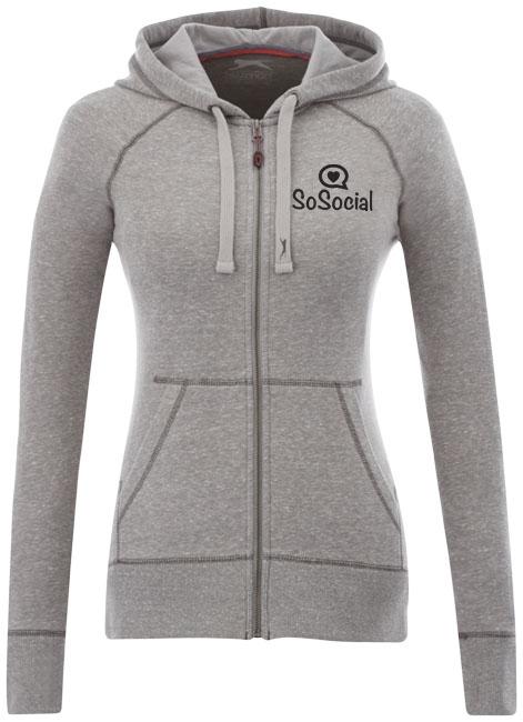 Veste à capuche publicitaire femme Groundie - Veste zippée personnalisée pour femme