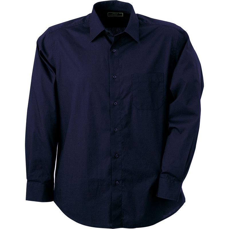 Chemise promotionnelle pour homme Dan bleu marine - chemise publicitaire