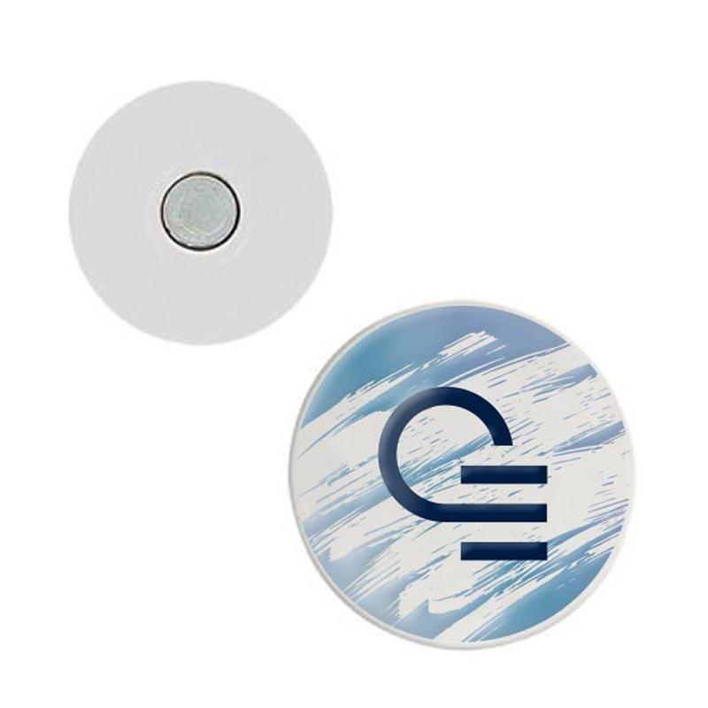 Badge publicitaire aimanté pour textile Ø 58 mm